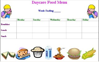 Free bookkeeping software shellys bookkeeping autos post for Daycare food menu template